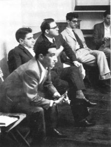 From image left to right, featuring Panzieri, Tronti, Decari, and Negri